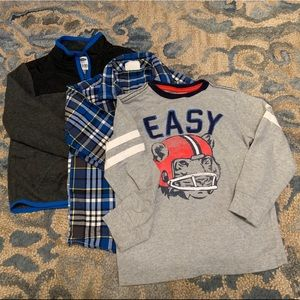 Set of 2 long sleeve shirt and one fleece jacket